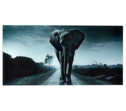ELEPHANT Plateau en verre L 120 Gris noir