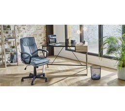 Bureau San Remo Imitation chêne/verre