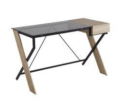 Meuble bureau et ordinateur pas cher for Plaque de bureau en verre