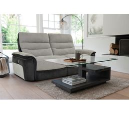 canap 3 places 2 relax manuel seattle microfibre taupe charbon canap s but. Black Bedroom Furniture Sets. Home Design Ideas