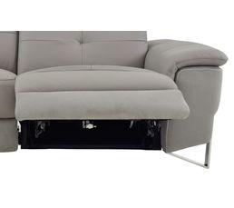 Canapé 3 places 2 Relax élect. NOBILE Cuir/microfibre Taupe