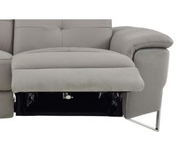 Canapé 2 places 2 relax élect. NOBILE Cuir/microfibre Taupe
