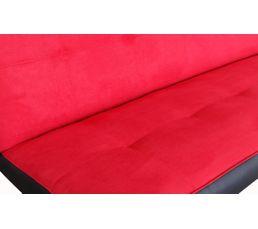 Banquette-lit ADELE Tissu Rouge
