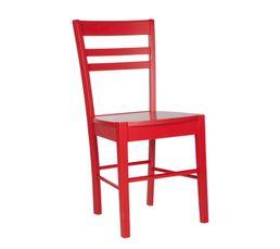 4 chaises LUCIE rouge pour le prix de 3 !