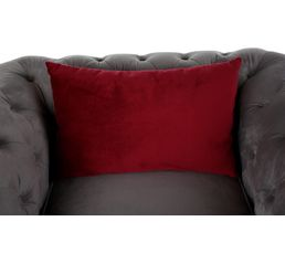 Fauteuil chesterfield CHESTER Tissu gris clair