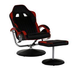pied gamer GEEK  Noir et rouge