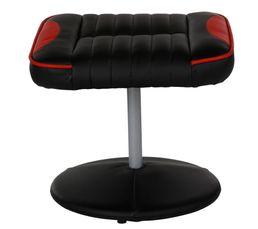 Fauteuil relax avec repose pied gamer GEEK Noir et rouge