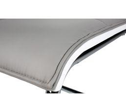Chaise MAGGIE Blanc/gris