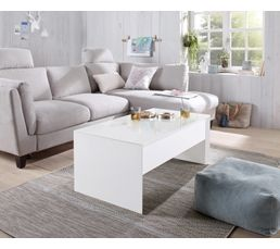 Table basse lap-top TOMMY 2 Blanc/taupe