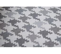 Fauteuil en tissu SCOTLAND motif pied de poule gris