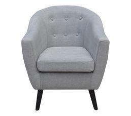fauteuil aristo tissu gris clair fauteuils but. Black Bedroom Furniture Sets. Home Design Ideas