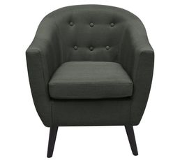 fauteuil aristo tissu gris fonc fauteuils but. Black Bedroom Furniture Sets. Home Design Ideas