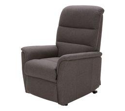 fauteuil relax releveur 2 moteurs kennedy tissu gris fonc fauteuils but. Black Bedroom Furniture Sets. Home Design Ideas