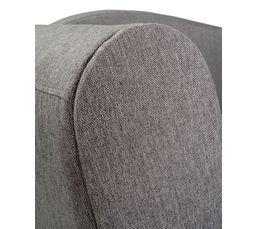Méridienne convertible + coffre LOLA tissu gris clair