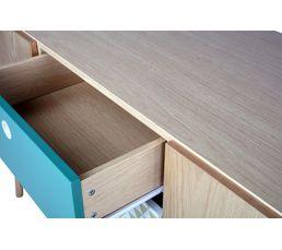 Buffet 2 portes/ 3 tiroirs FLODEN Chêne/ imprimé