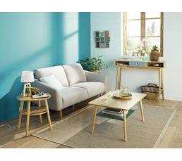 Table basse rectangle FLODEN Chêne/ vert