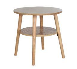 Table basse ronde FLODEN Chêne/ orange