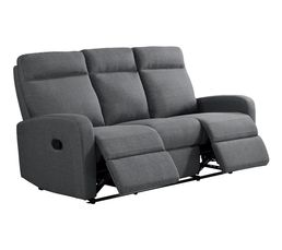 canap relax 3 places oscar tissu gris clair - Canape Angle Convertible Cdiscount1565