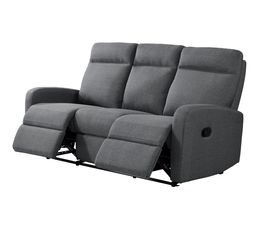 Canapé relax 3 places OSCAR Tissu gris clair