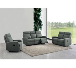 Canape Relax 3 Places Oscar Tissu Gris Anthracite Canapes But