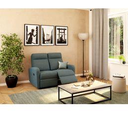 Canapé relax deux places OSCAR Tissu gris anthracite