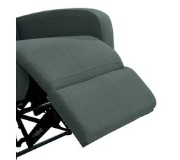Fauteuil relax OSCAR Tissu gris anthracite