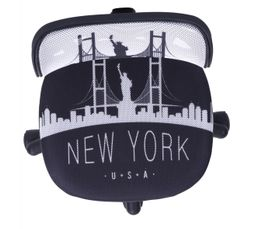Chaise dactylo City New York Noir