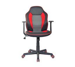fauteuil de bureau punchy noir gris et rouge chaises et fauteuils but. Black Bedroom Furniture Sets. Home Design Ideas