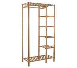 Structure : Bois de pin. Finition : Coloris naturel. Dimensions en cm : L.90 - l. 45 - H. 175 cm. A monter soi-même Oui.