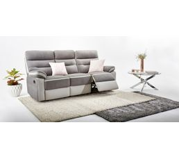 Fauteuil relax manuel PRINCETON Micro/PU Gris