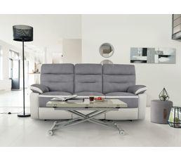 Canapé 3 places 2 relax manuel Princeton Micro/PU Gris