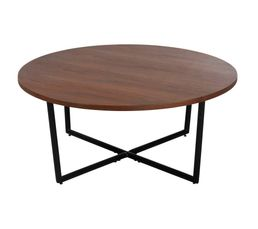 Table basse ronde Ø80 FANNY Noyer