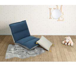 chauffeuse enfant lou tissu bleu poufs poires but. Black Bedroom Furniture Sets. Home Design Ideas