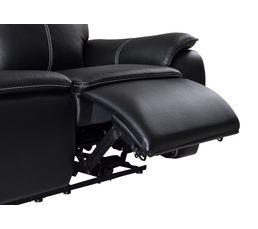 Fauteuil relax électrique AUSTIN Cuir/PU Noir