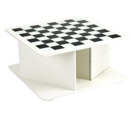 Table basse jeux PLAYER Blanc et noir