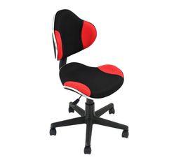 Chaise dactylo Frogg Rouge et noir
