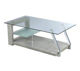 DIANE Table basse Béton/verre