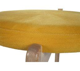 Tabouret de bar H.64 cm LENA Jaune