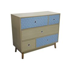 Commode 5 tiroirs MILA BLUE