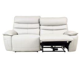 Canapé 3 places 2 Rlx électri. EVOGG Cuir / croûte cuir Blanc