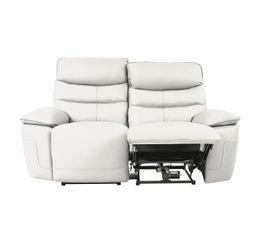 Canapé 2 places 2 Rlx électri. EVOGG Cuir / croûte cuir Blanc