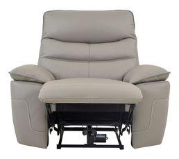 fauteuil relax lectrique evogg cuir cro te cuir taupe gris fauteuils but. Black Bedroom Furniture Sets. Home Design Ideas