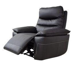 Fauteuil relax électrique EVOGG Cuir / croûte cuir Noir