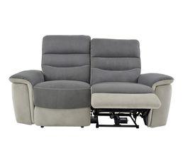 Canap 2 places 2 relax lect seattle microfibre gris for Reprise ancien canape