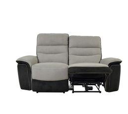 Canapé 2 places 2 relax élect. SEATTLE microfibre Taupe/Charbon