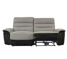 Canapé 3 places 2 relax élect. SEATTLE microfibre Taupe/Charbon