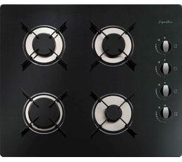 Table GAZ SIGNATURE STG4VN/2 4 foyers Noir