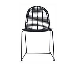 Chaise en rotin ALIZA Noir