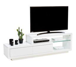 Meuble TV SAMSON 2 Blanc laqué