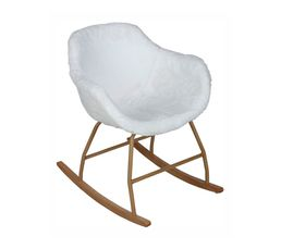 ICEBERG Rocking-chair cocooning Blanc